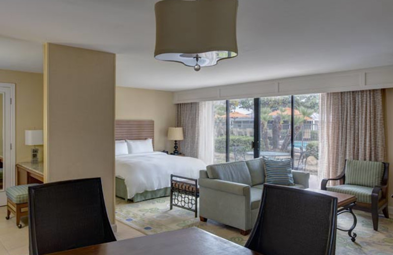 Guest room at Coronado Island Marriott Resort.