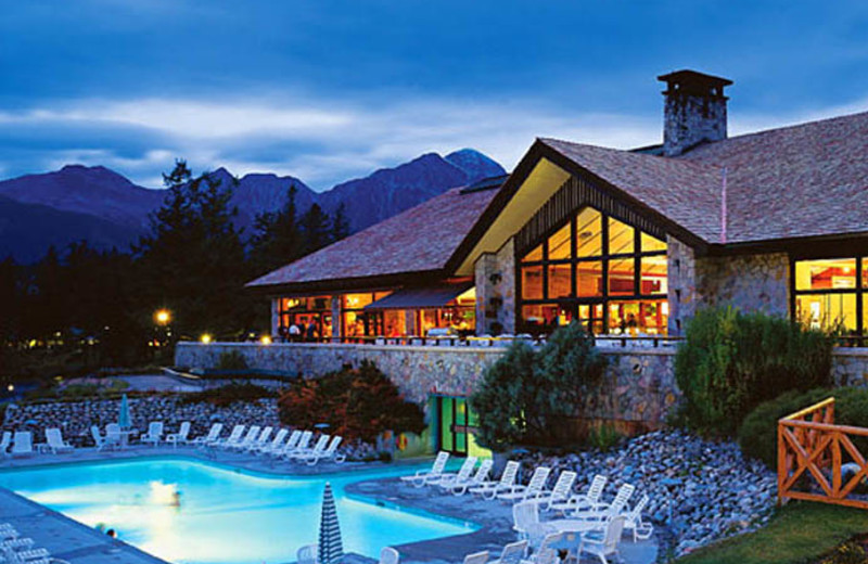 Outdoor pool at The Fairmont Jasper Park Lodge.