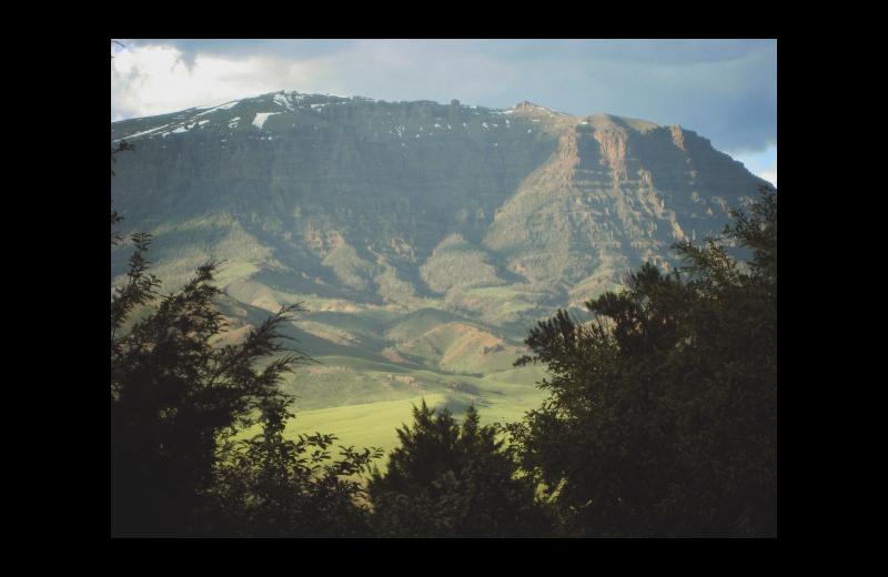 Mountain view at Rimrock Dude Ranch.