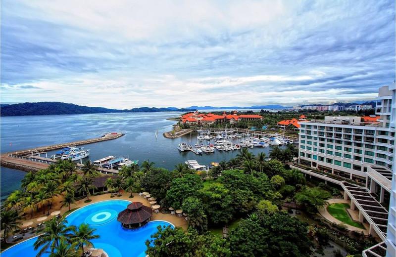 Exterior view of Sutera Harbour Resort.