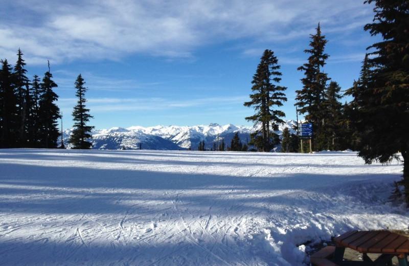 Skiing at Whistler Breaks.