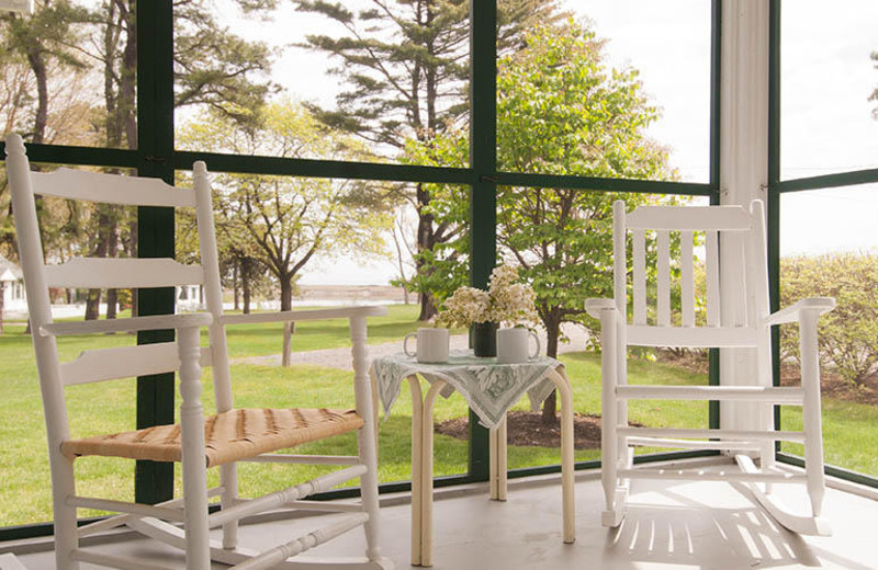Porch view at The Dunes on the Waterfront.