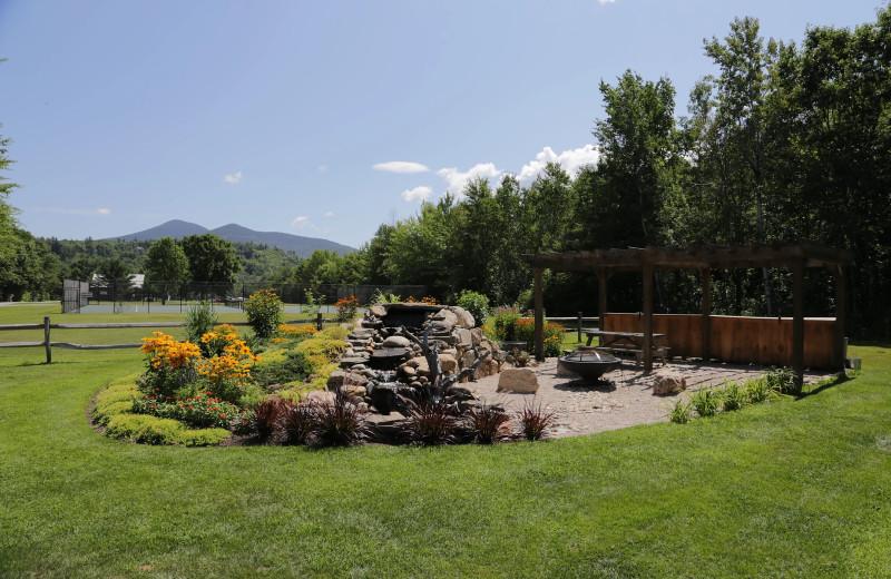 Patio at Glen Ellis Family Campground.