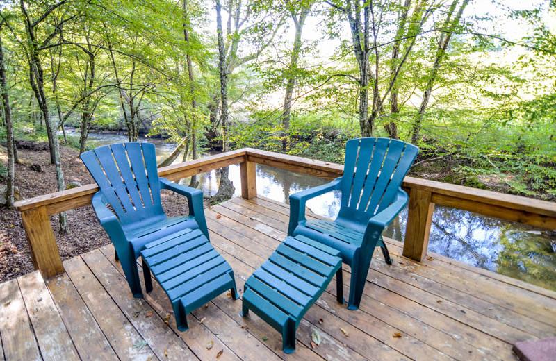 Rental deck at Little Bear Rentals.