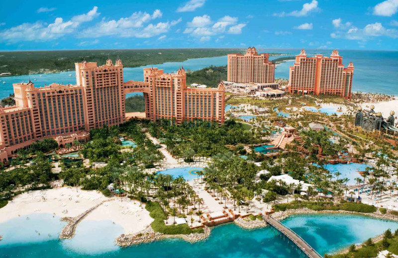 Aerial view of Atlantis, Paradise Island.