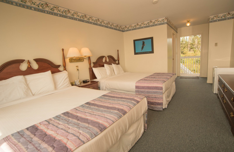 Guest room at Brier Island Lodge and Resort.