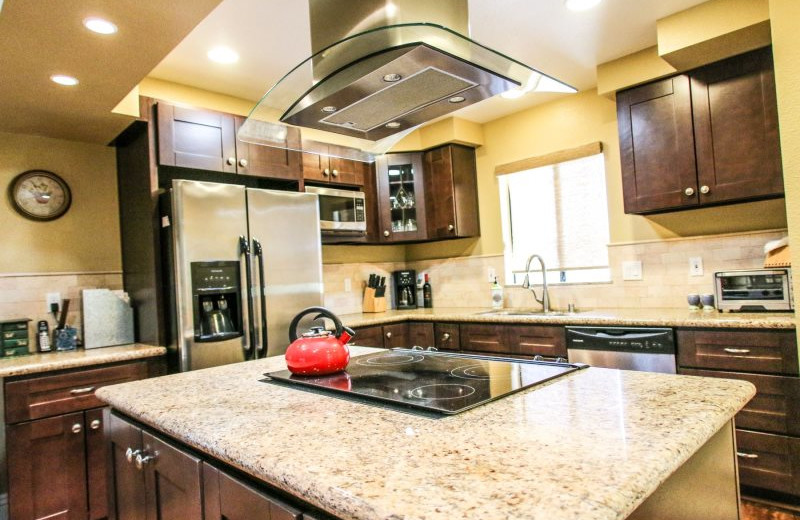 Rental kitchen at Country Club and Resort Rentals.