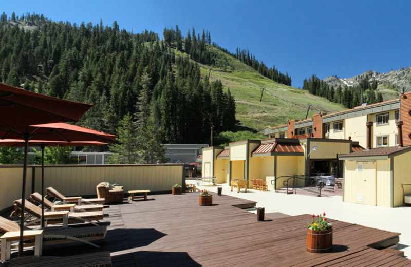 Sundeck at the Red Wolf Lodge at Squaw Valley