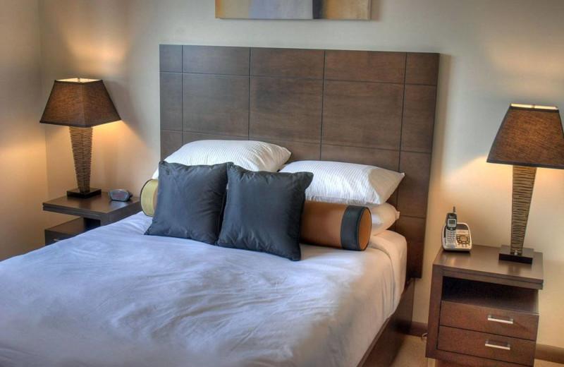 Guest bedroom at Playa Del Sol Resort.