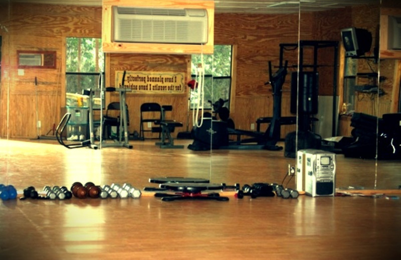 Fitness room at Rancho Cortez.
