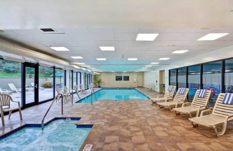 Indoor pool at Hampton Inn