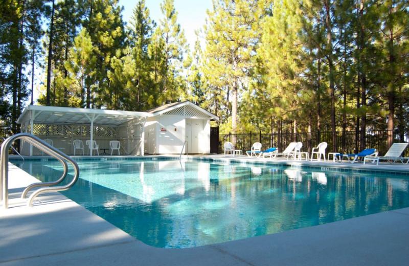 Outdoor pool at Sugar Pine Ranch.