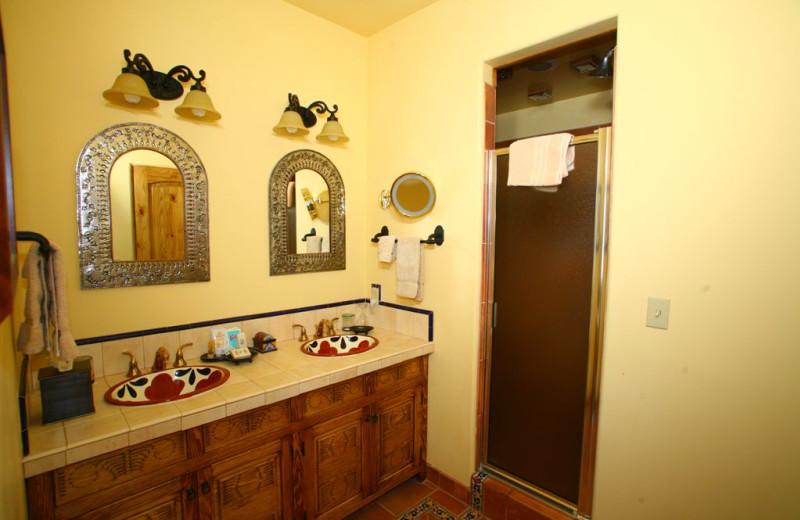 Spanish Colonial bathroom at Inn on La Loma Plaza.