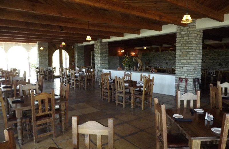 Dining area at Lajitas Golf Resort & Spa.