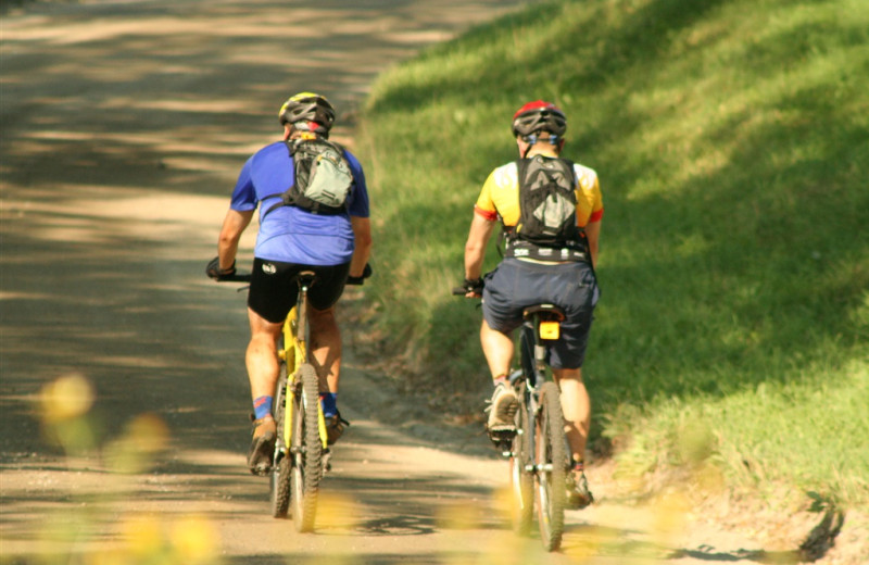 Mountain biking at The Wildflower Inn.