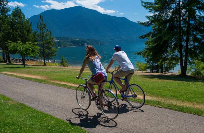 Biking at The Lodge at Arrow Lakes.