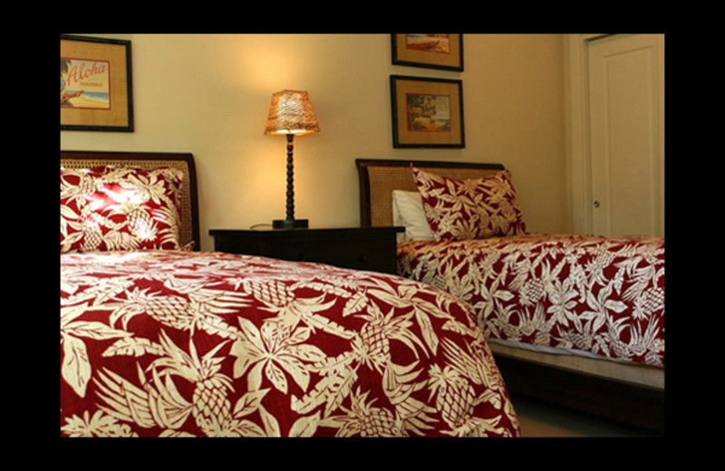 Guest bedroom at Luxury Kauai Condos & Villas.