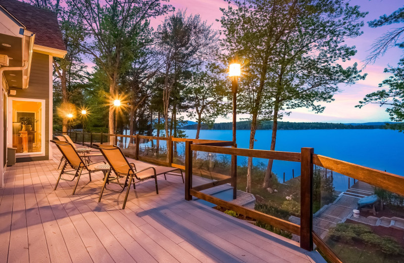 Rental deck at At The Lake Vacation Rentals.