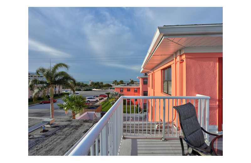 Guest balcony at Gulf Winds Resort Condominiums.