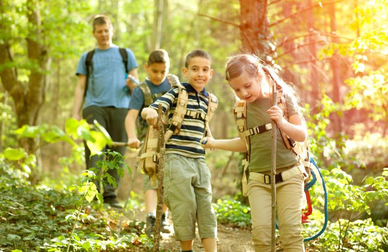 Hiking at Bear Creek Mountain Resort.