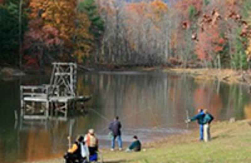 Fishing at the Montfair Resort Farm Lake