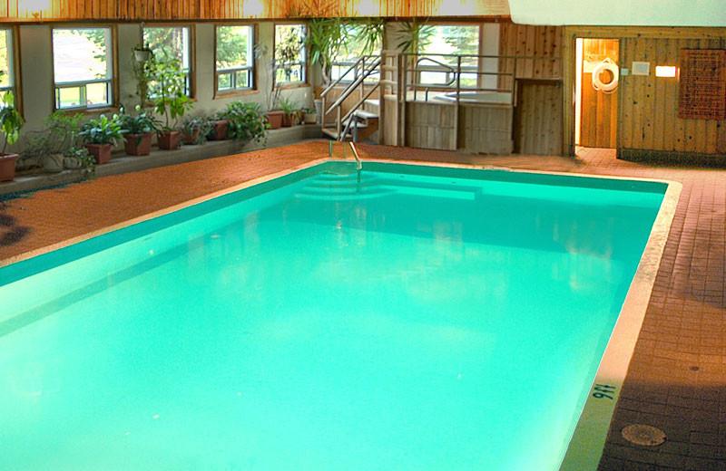 Indoor pool at Shamrock Lodge.