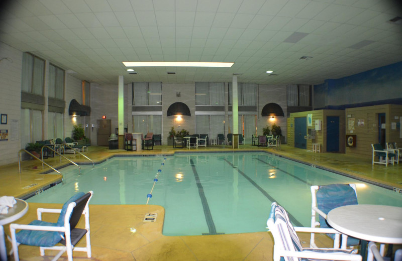 Indoor pool at Ambers Resort and Conference Center.