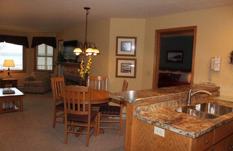 Guest room at Westwood Shores Waterfront Resort.