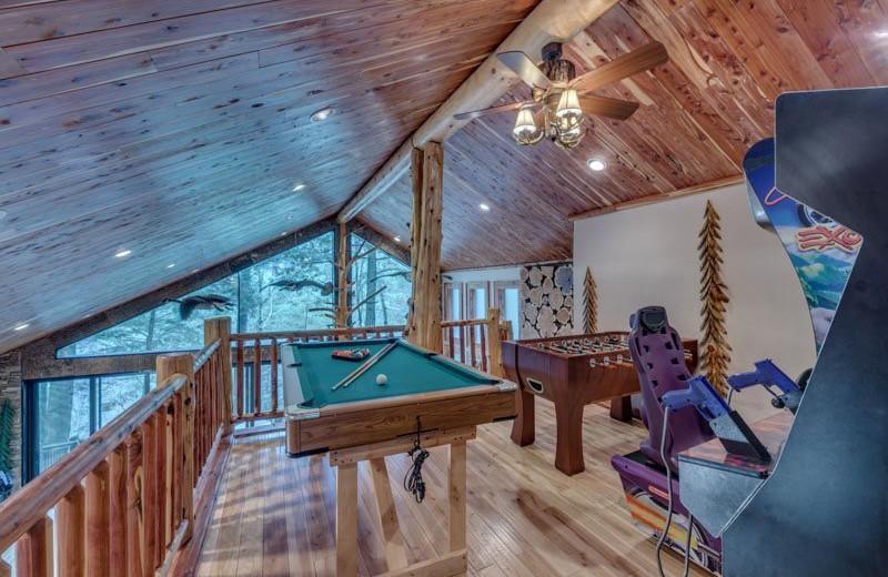 Rental loft at Blue Sky Cabin Rentals.