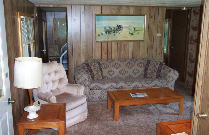 Cabin Interior at Forest Lane Resort