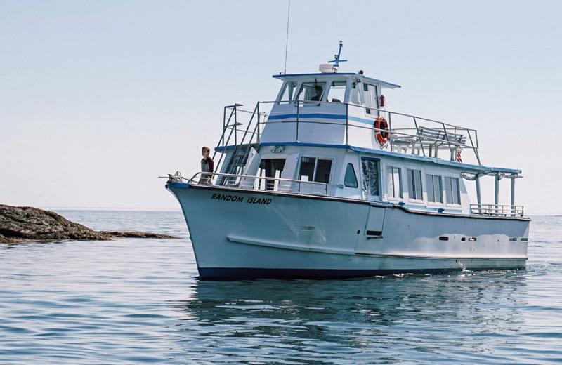 Boat at Sebasco Harbor Resort.
