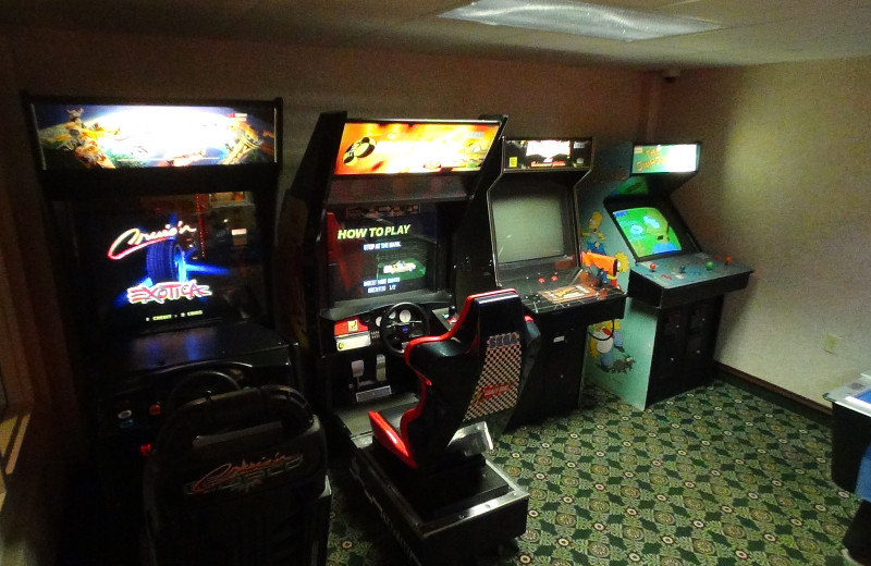 Arcade room at Bayshore Resort.