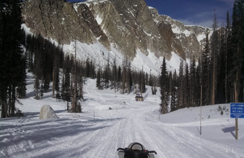 Snowmobiling at Medicine Bow Lodge.