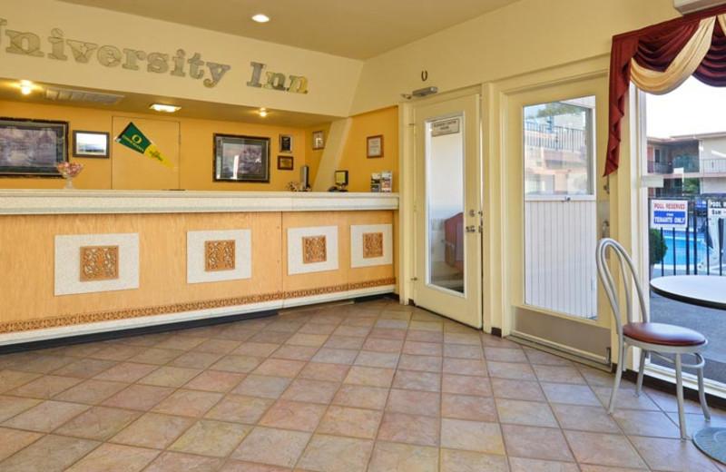 Front Desk at University Inn & Suites