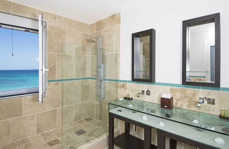 Vacation rental bathroom at Coral Beach Club.