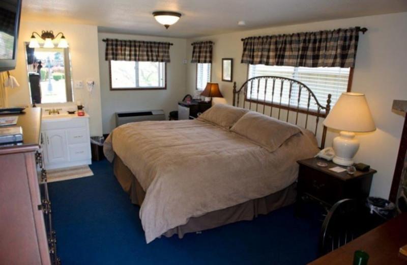 Guest bedroom at Wonder Valley Ranch Resort.