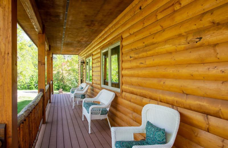 Cabin exterior at Colorado Trails Ranch.