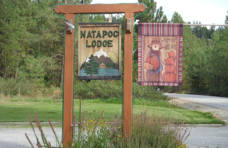 Sign at Natapoc Lodging.