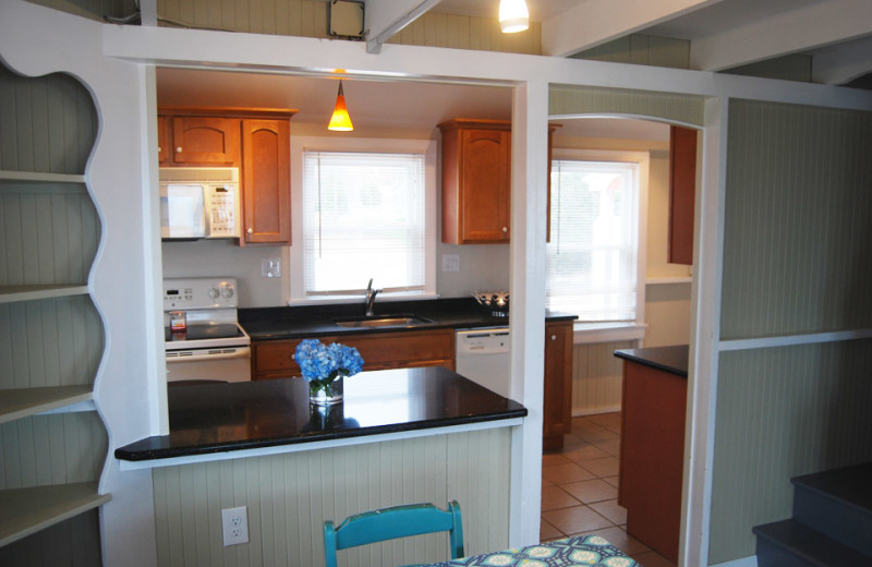 Cottage kitchen at Hawk's Nest Beach.