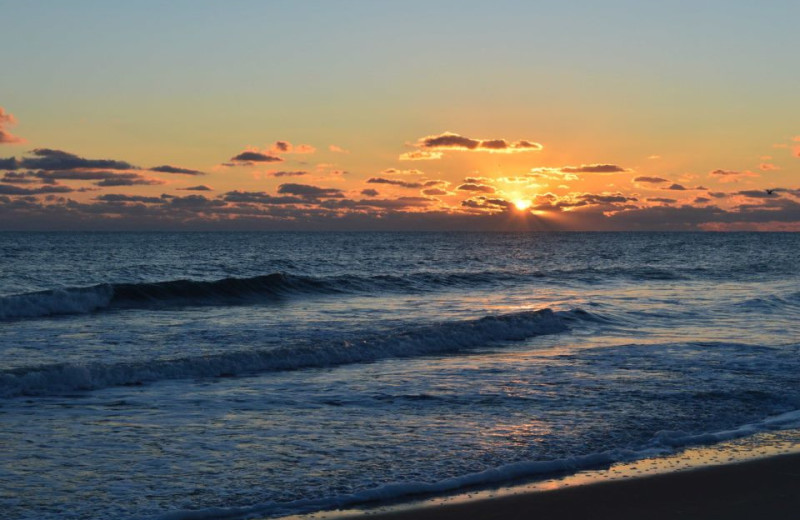 Beautiful sunrise near Outer Banks Inn.