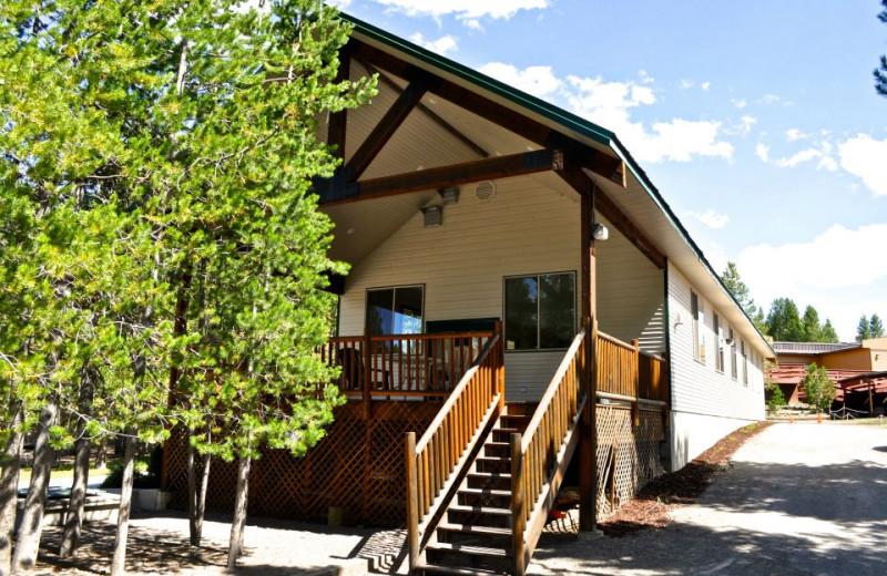 Cabin exterior at Sawtelle Mountain Resort.