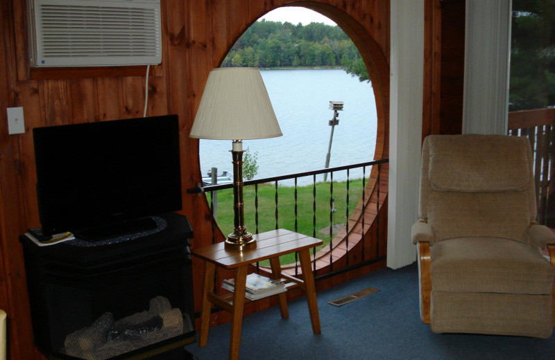 Cabin lake view at Moore Springs Resort.