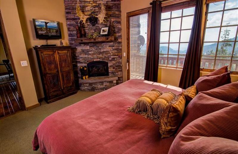 Rental bedroom at Black Diamond Vacation Rentals.