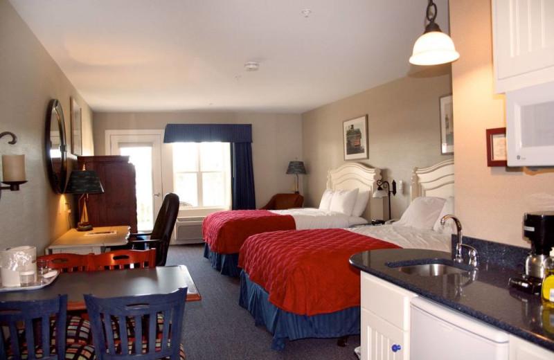 Guest room at Sebasco Harbor Resort.