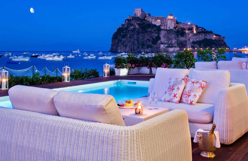 Outdoor pool at Miramare e Castello Hotel.