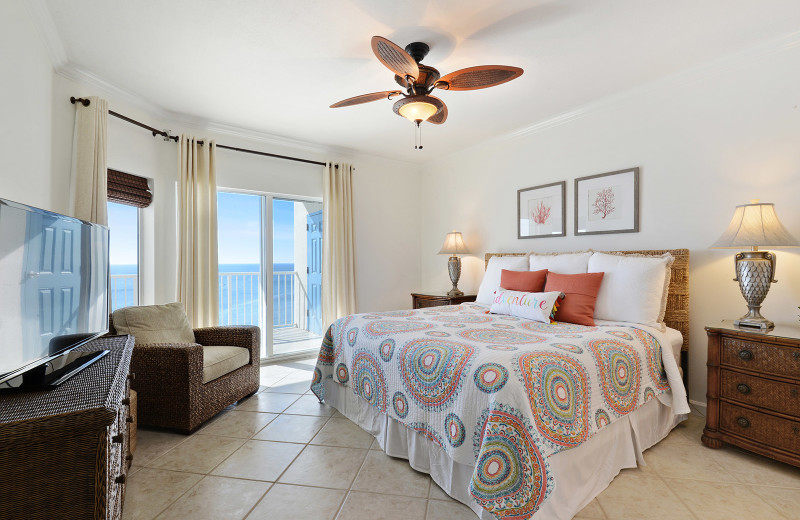 Rental bedroom at Alabama Coastal Properties.