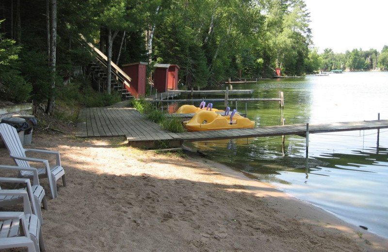 Rental beach at Northwoods Vacation Lodgings.