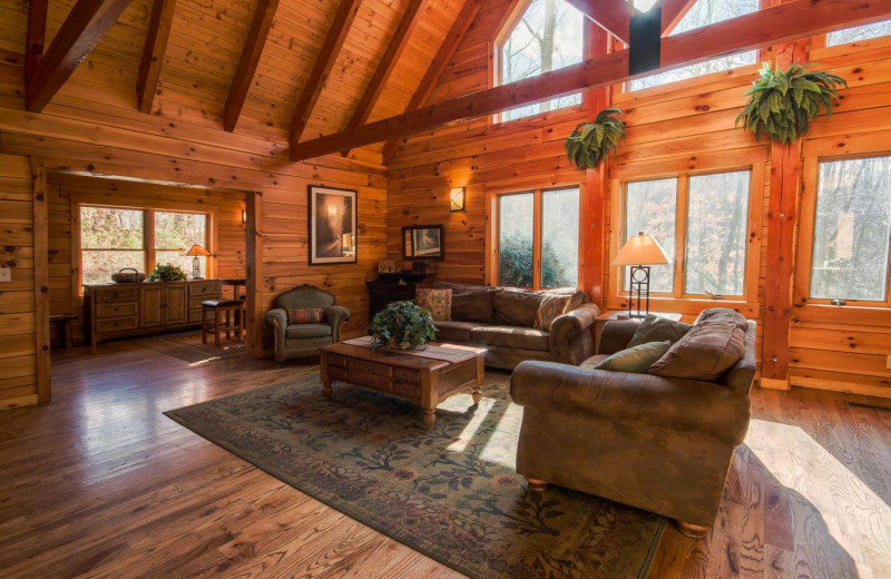 Living room at The Lodge at Lane's End.