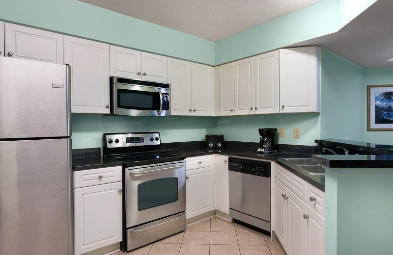 Guest kitchen at Caribbean Resort & Villas.