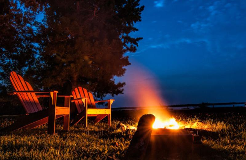 Bonfire at Sandy Point Lodge.
